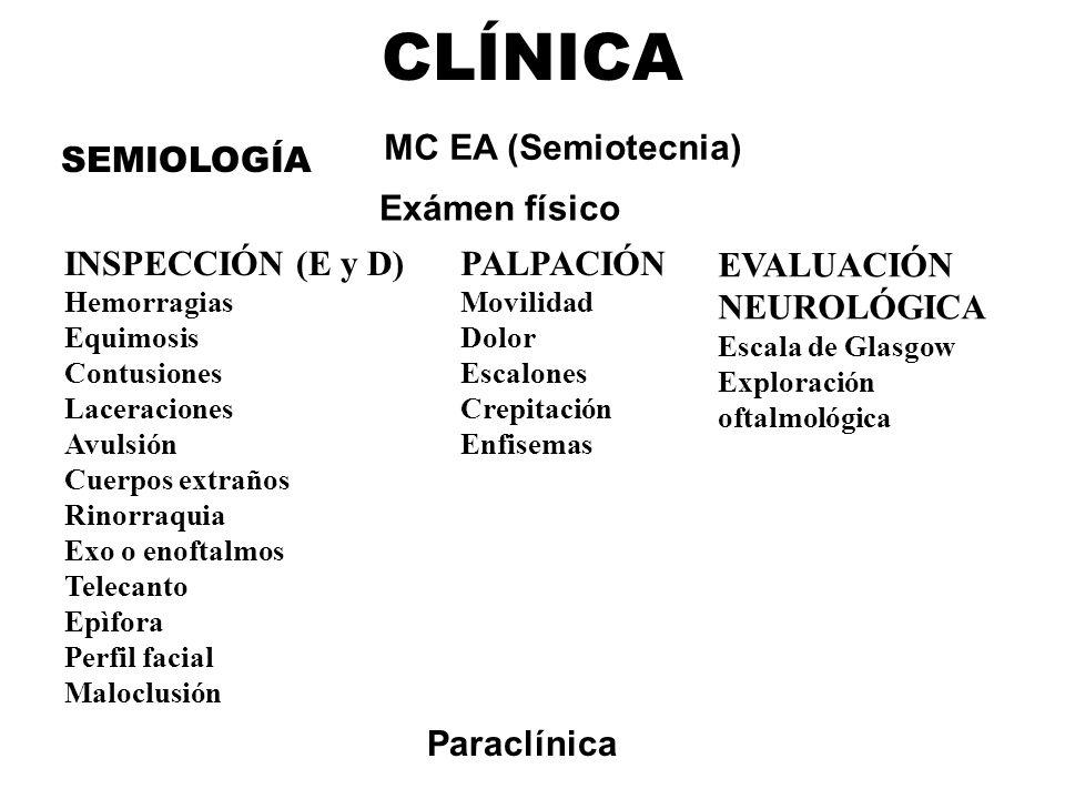 CLÍNICA MC EA (Semiotecnia) SEMIOLOGÍA Exámen físico