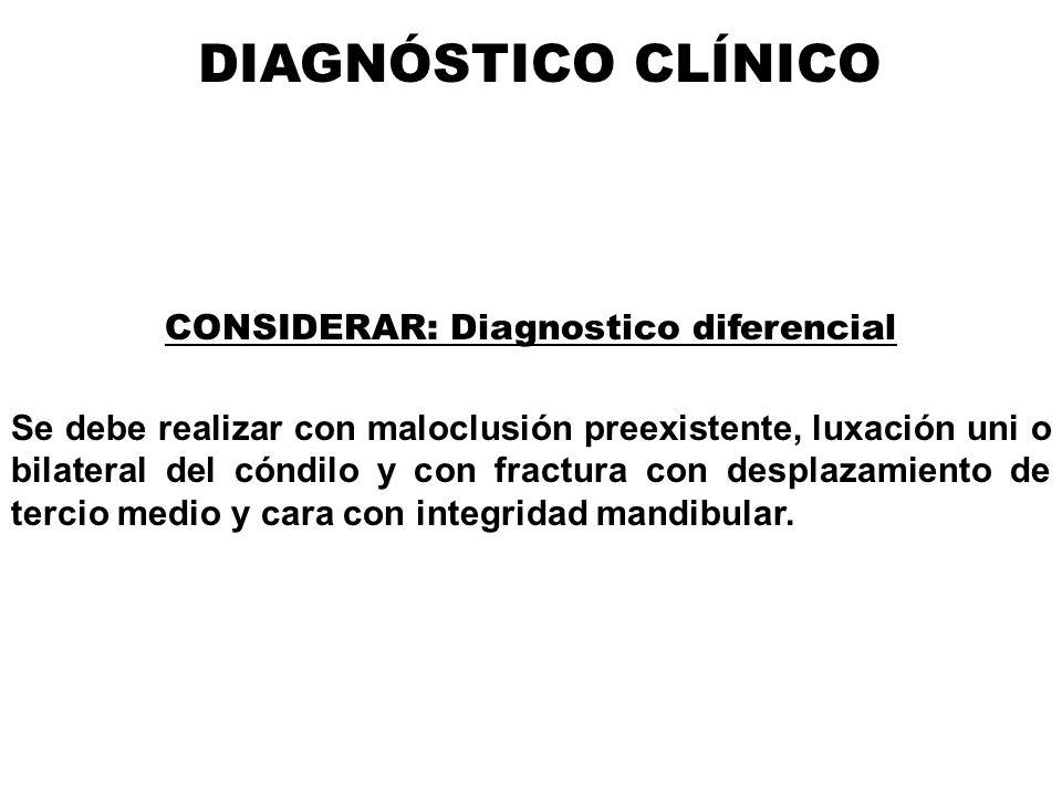 CONSIDERAR: Diagnostico diferencial