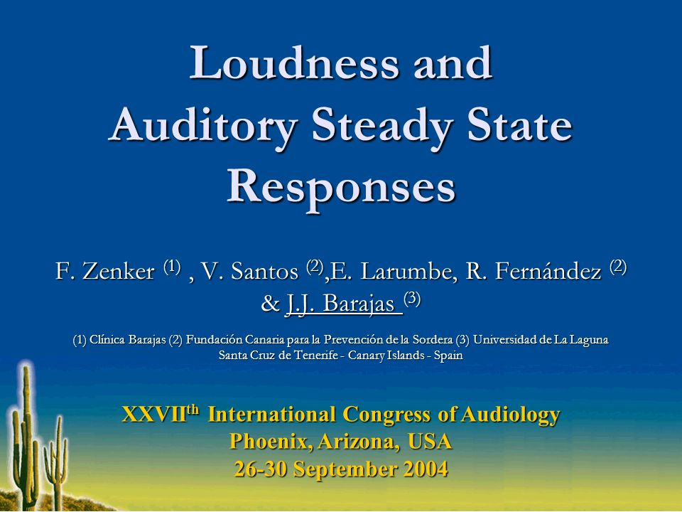 Loudness and Auditory Steady State Responses