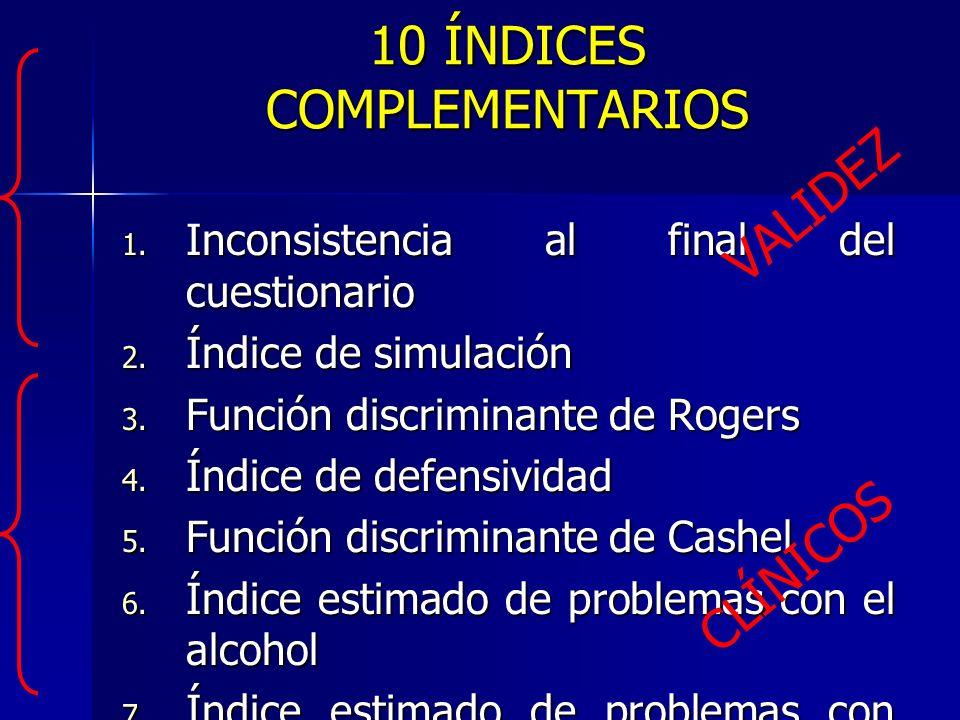 10 ÍNDICES COMPLEMENTARIOS