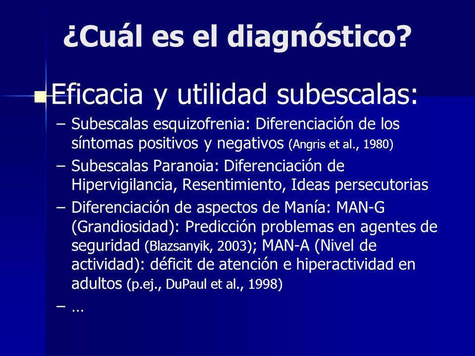 ¿Cuál es el diagnóstico