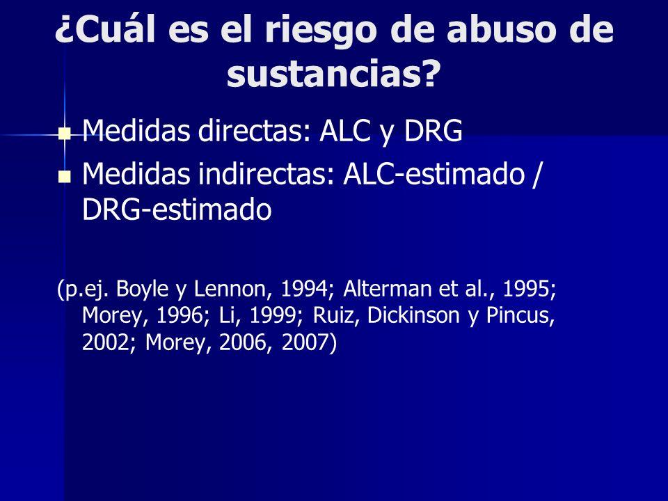 ¿Cuál es el riesgo de abuso de sustancias