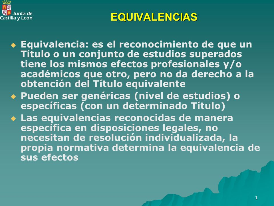 EQUIVALENCIAS