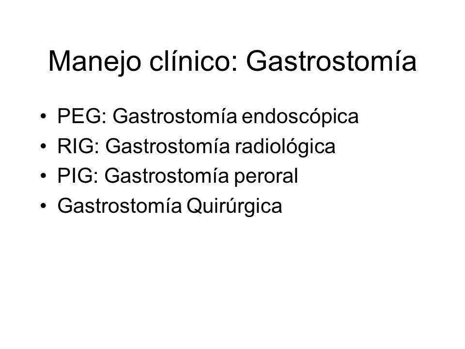Manejo clínico: Gastrostomía