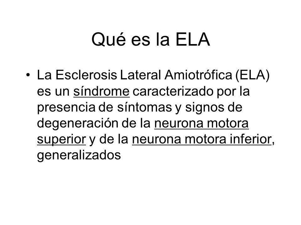 Qué es la ELA