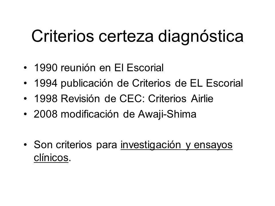 Criterios certeza diagnóstica