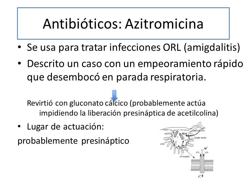 Antibióticos: Azitromicina