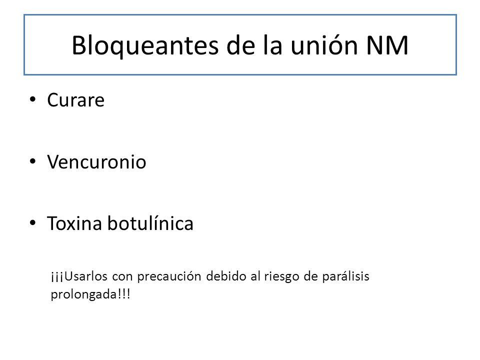 Bloqueantes de la unión NM