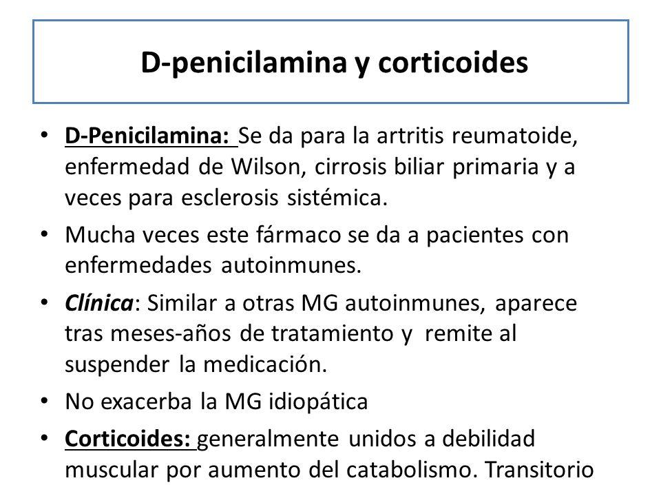 D-penicilamina y corticoides
