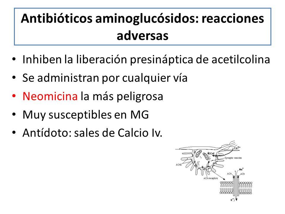 Antibióticos aminoglucósidos: reacciones adversas