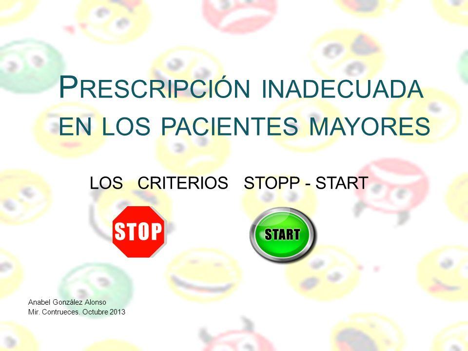 Prescripción inadecuada en los pacientes mayores