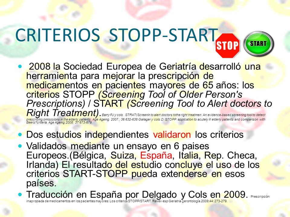 CRITERIOS STOPP-START