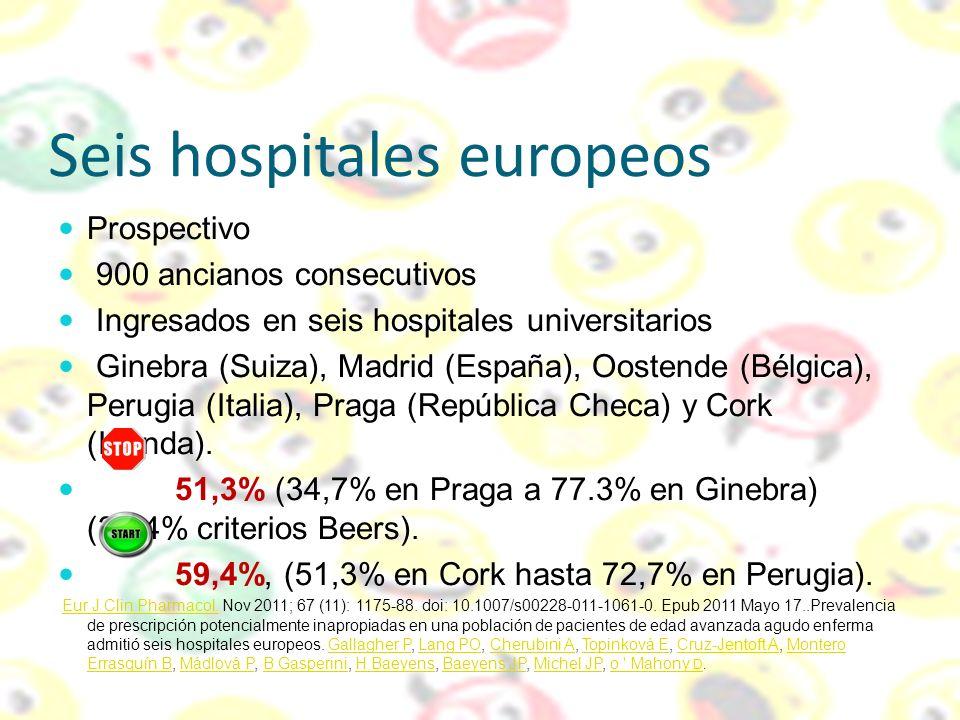 Seis hospitales europeos