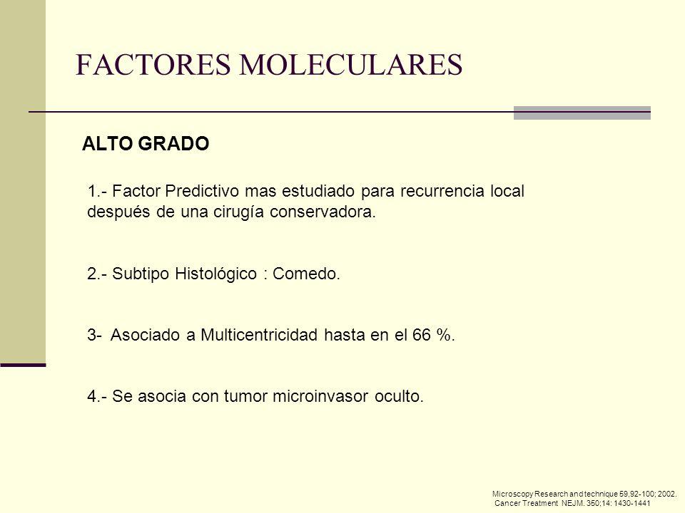 FACTORES MOLECULARES ALTO GRADO