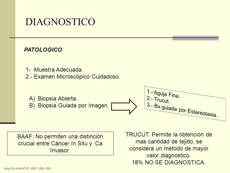DIAGNOSTICO PATOLOGICO 1- Muestra Adecuada.