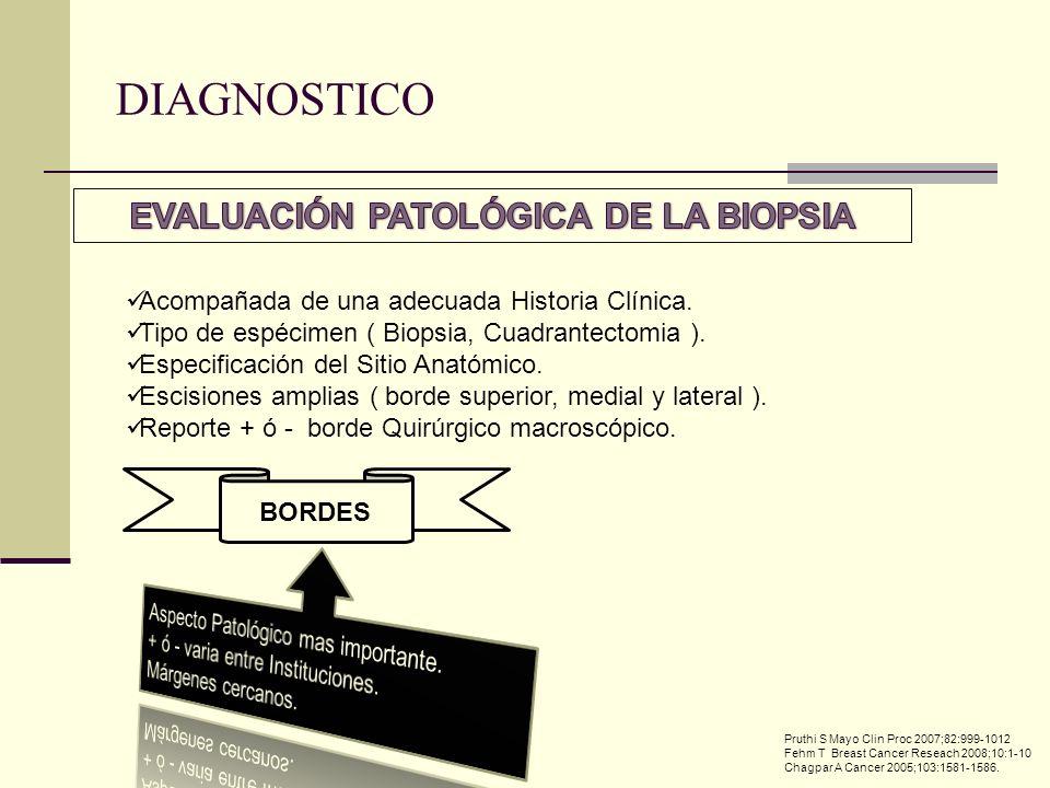 EVALUACIÓN PATOLÓGICA DE LA BIOPSIA