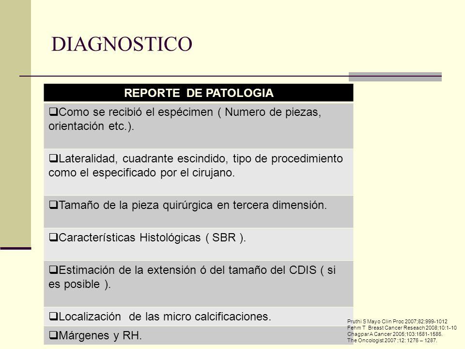 DIAGNOSTICO REPORTE DE PATOLOGIA
