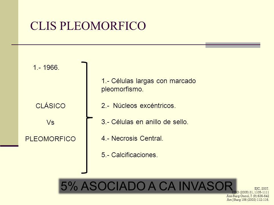 CLIS PLEOMORFICO 5% ASOCIADO A CA INVASOR 1.- 1966.