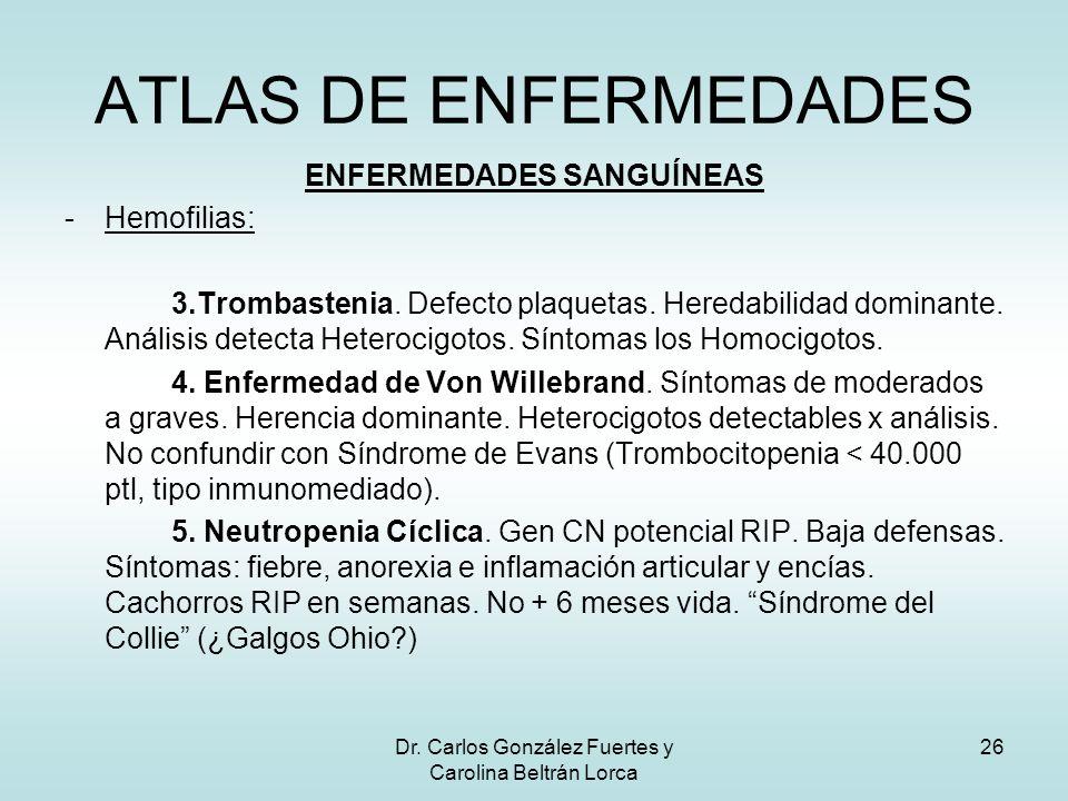ATLAS DE ENFERMEDADES ENFERMEDADES SANGUÍNEAS Hemofilias: