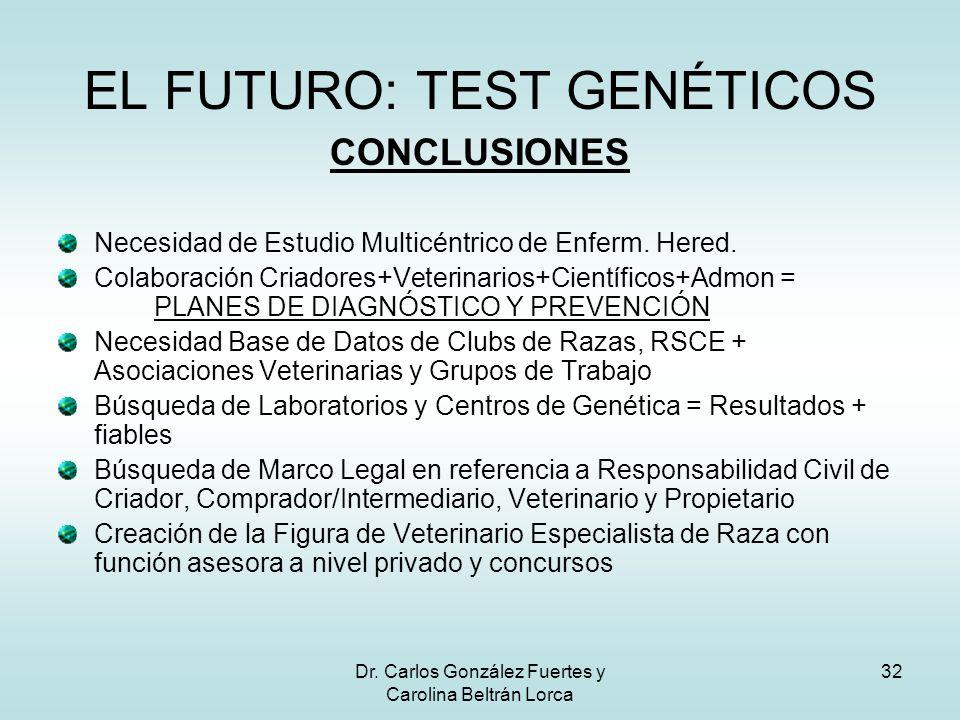 EL FUTURO: TEST GENÉTICOS