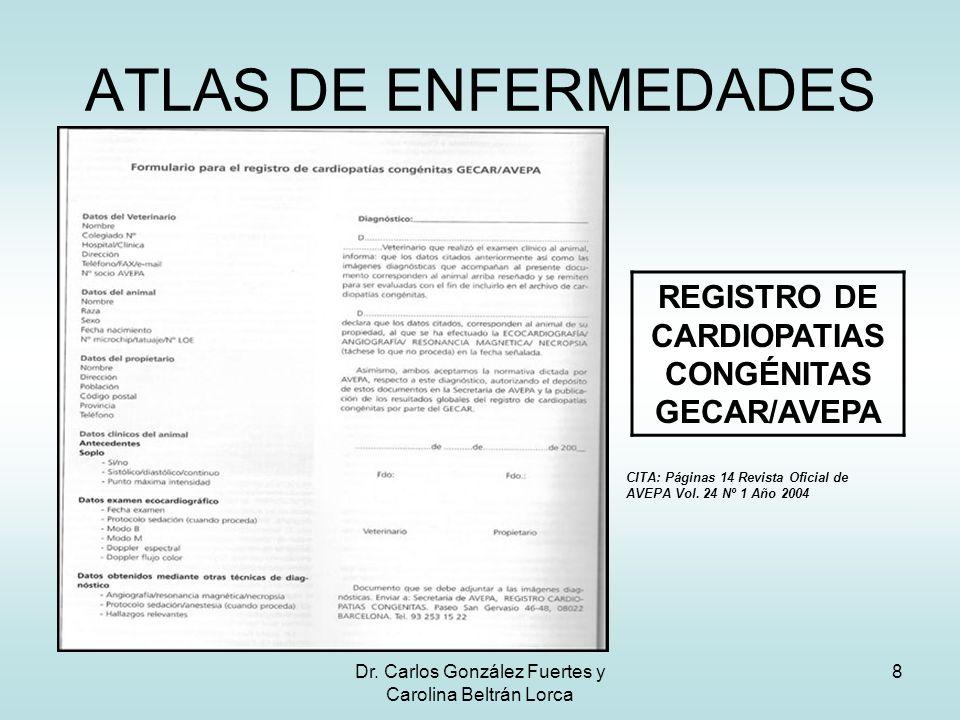 ATLAS DE ENFERMEDADES REGISTRO DE CARDIOPATIAS CONGÉNITAS GECAR/AVEPA