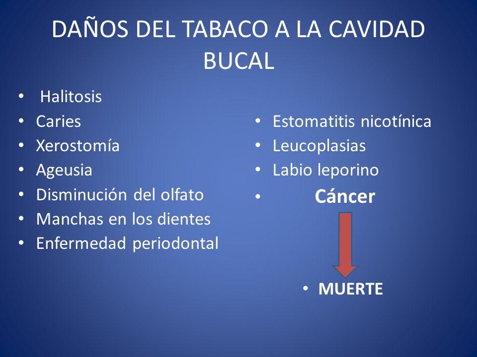 DAÑOS DEL TABACO A LA CAVIDAD BUCAL