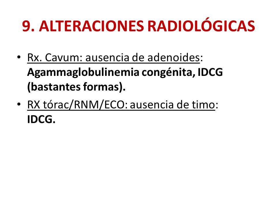 9. ALTERACIONES RADIOLÓGICAS