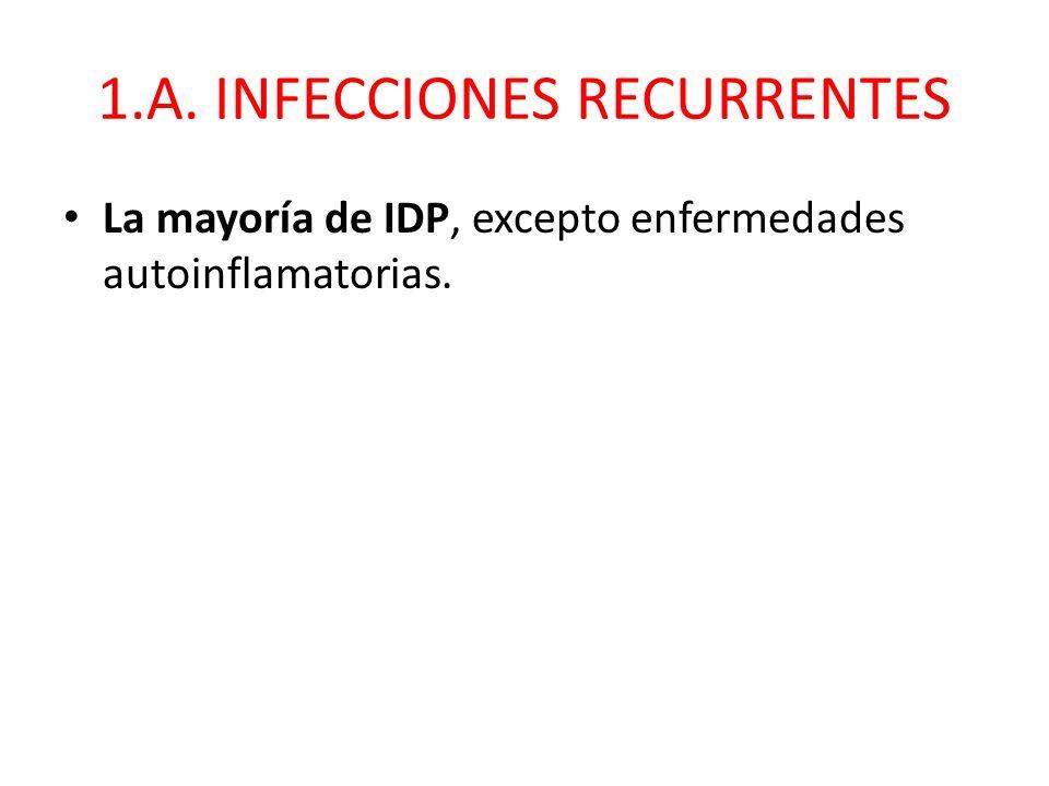 1.A. INFECCIONES RECURRENTES