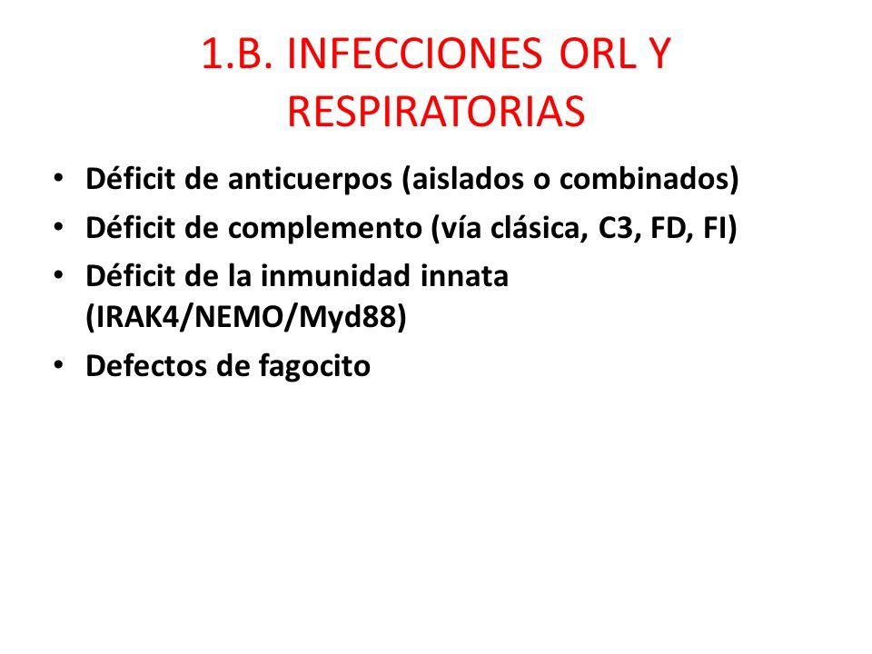 1.B. INFECCIONES ORL Y RESPIRATORIAS