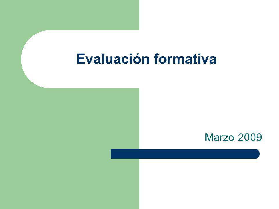 Evaluación formativa Marzo 2009