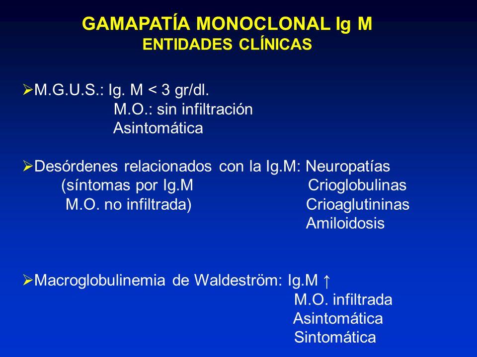 GAMAPATÍA MONOCLONAL Ig M