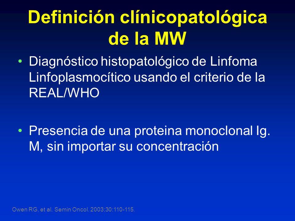 Definición clínicopatológica de la MW