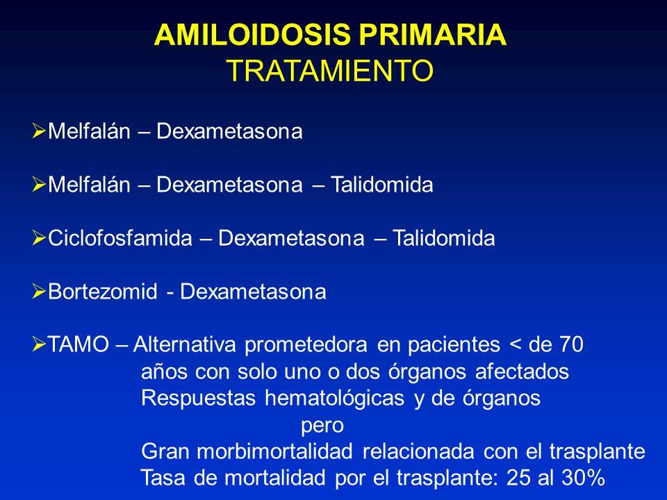 AMILOIDOSIS PRIMARIA TRATAMIENTO Melfalán – Dexametasona