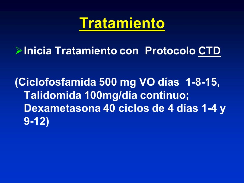 Tratamiento Inicia Tratamiento con Protocolo CTD