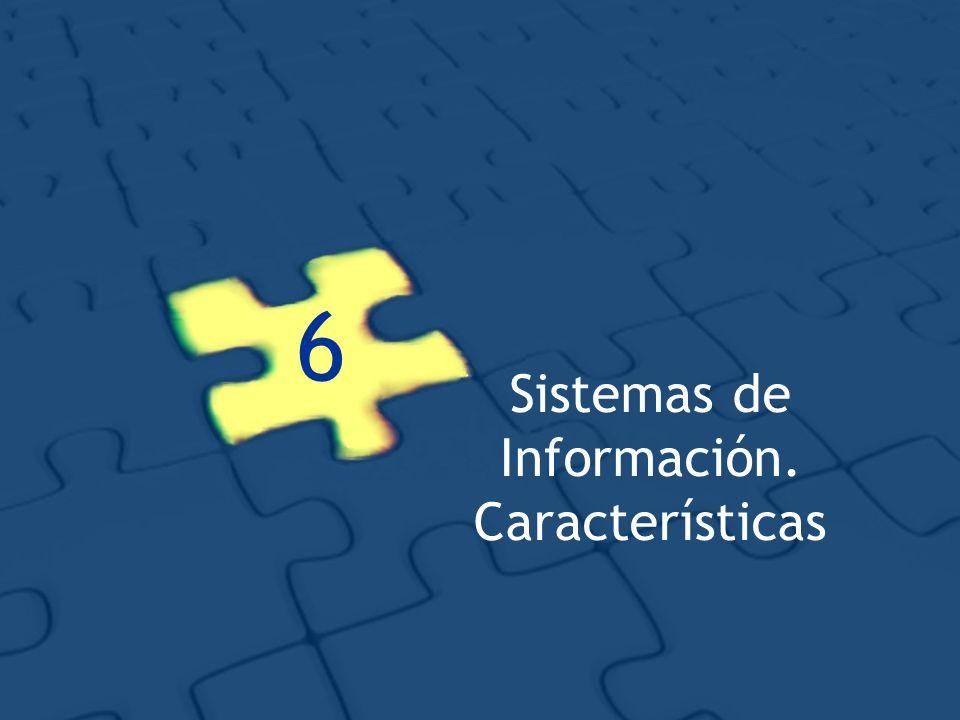 Sistemas de Información. Características