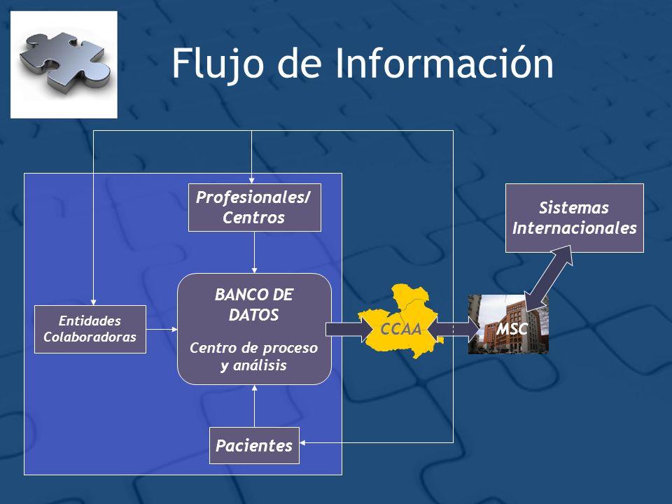 Flujo de Información Profesionales/Centros Sistemas Internacionales