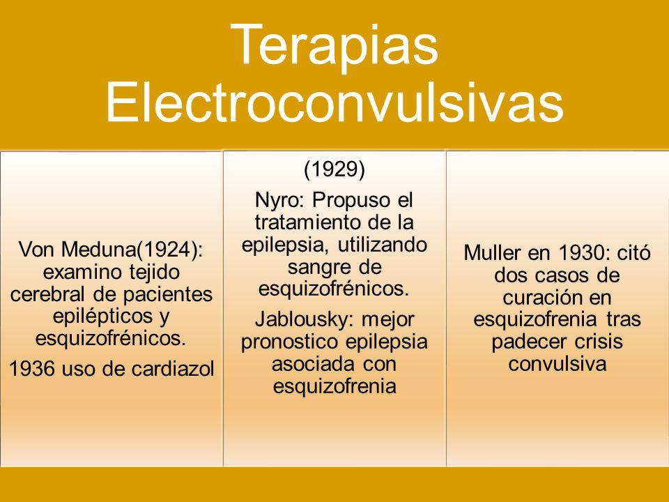 Terapias Electroconvulsivas
