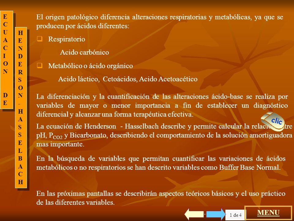 Metabólico o ácido orgánico