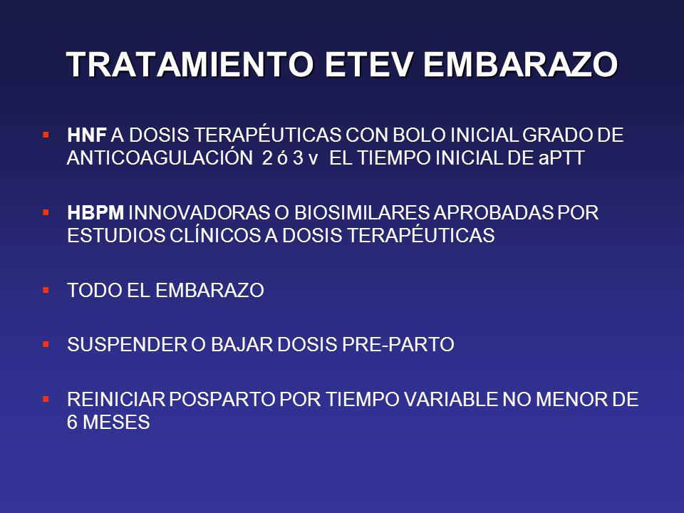 TRATAMIENTO ETEV EMBARAZO
