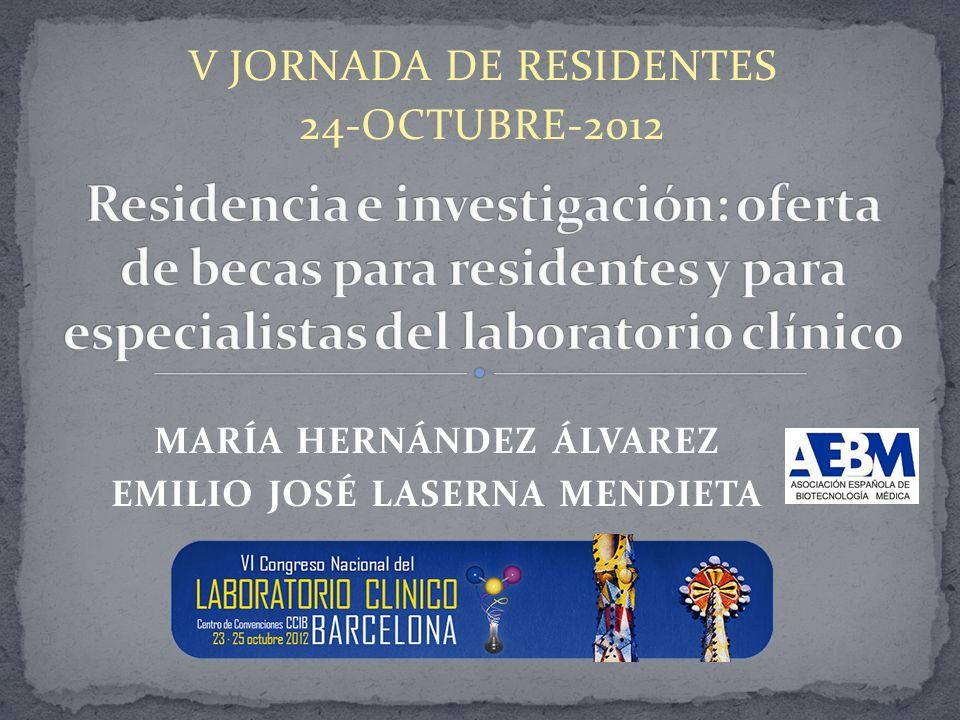 V JORNADA DE RESIDENTES 24-OCTUBRE-2012