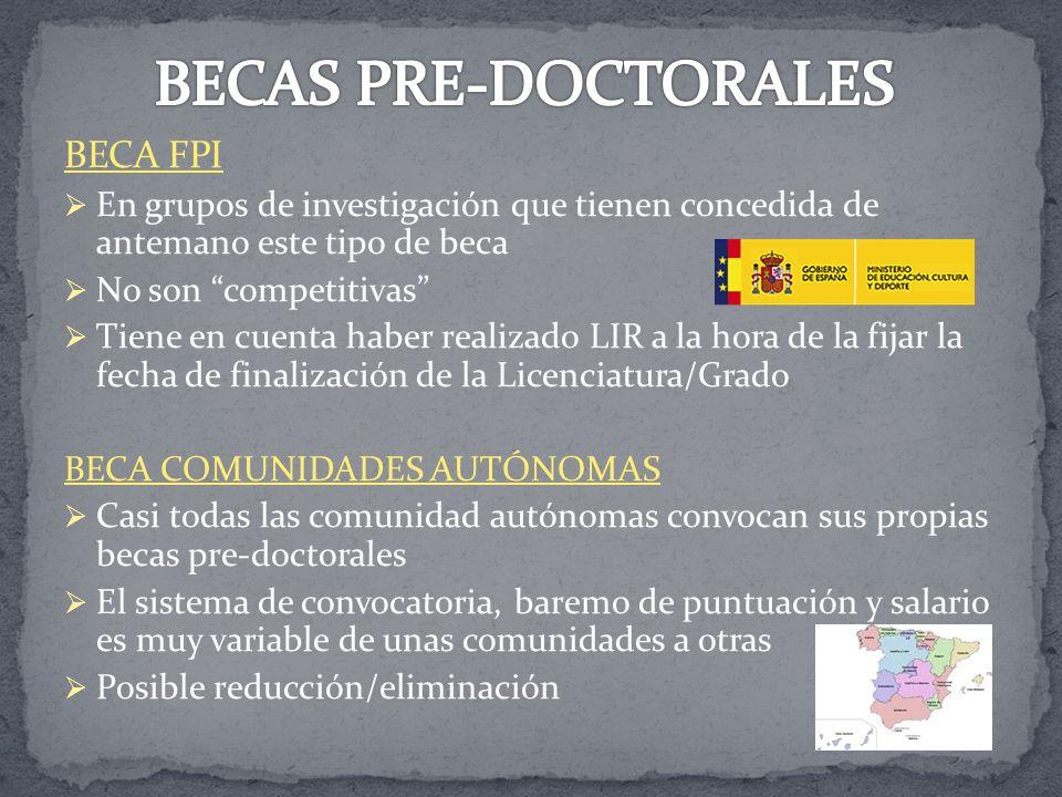 BECAS PRE-DOCTORALES BECA FPI