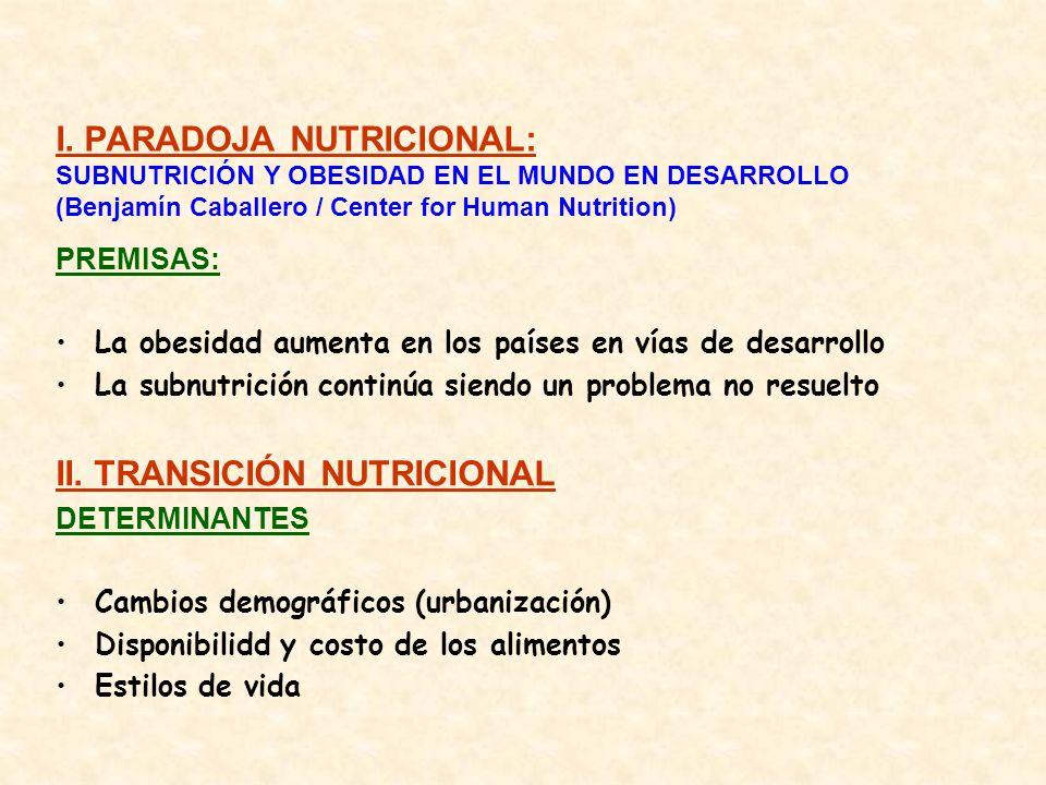 II. TRANSICIÓN NUTRICIONAL
