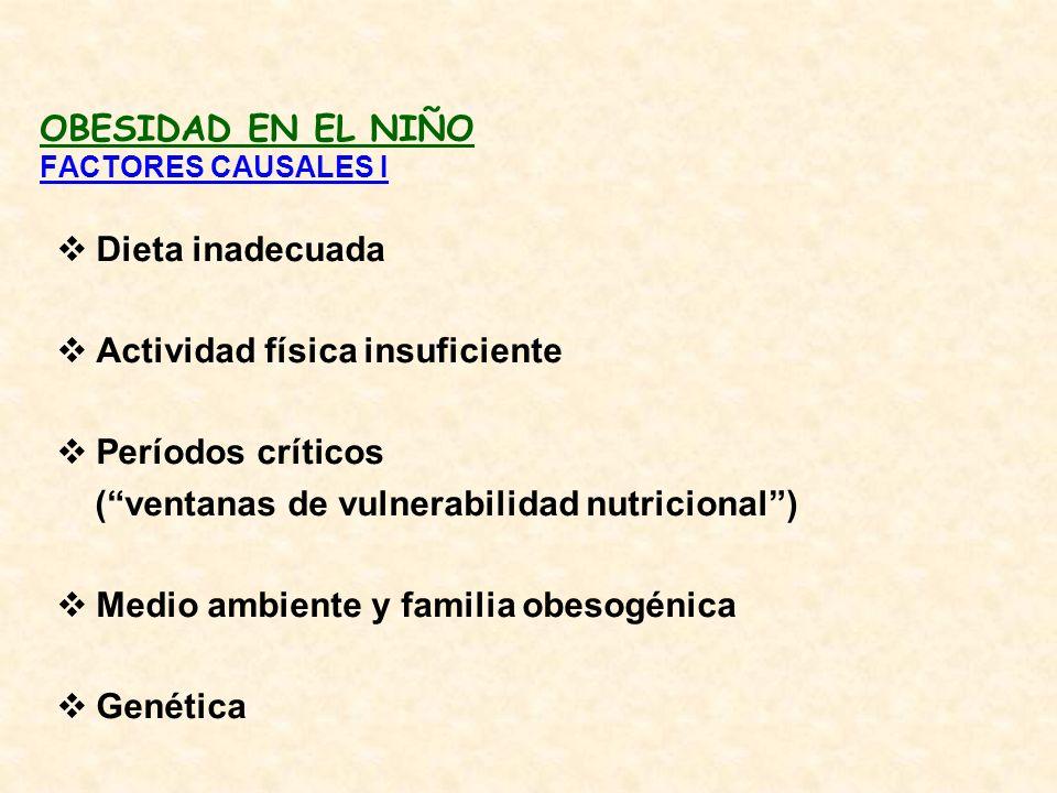OBESIDAD EN EL NIÑO FACTORES CAUSALES I