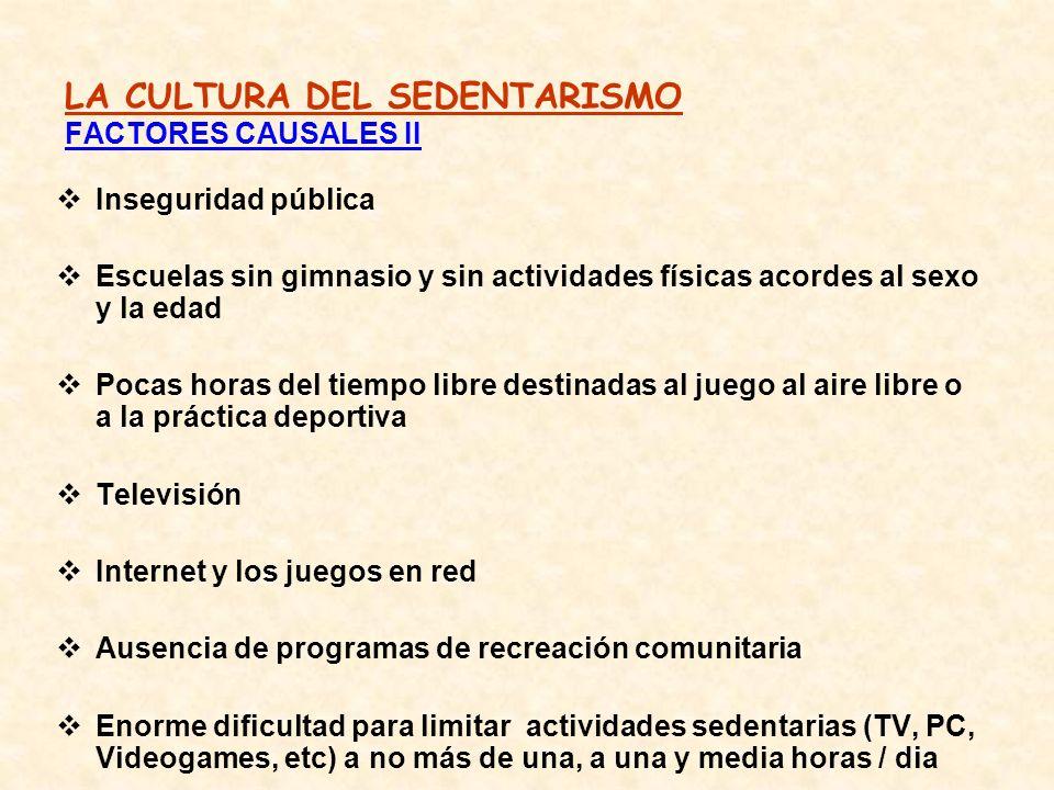 LA CULTURA DEL SEDENTARISMO FACTORES CAUSALES II