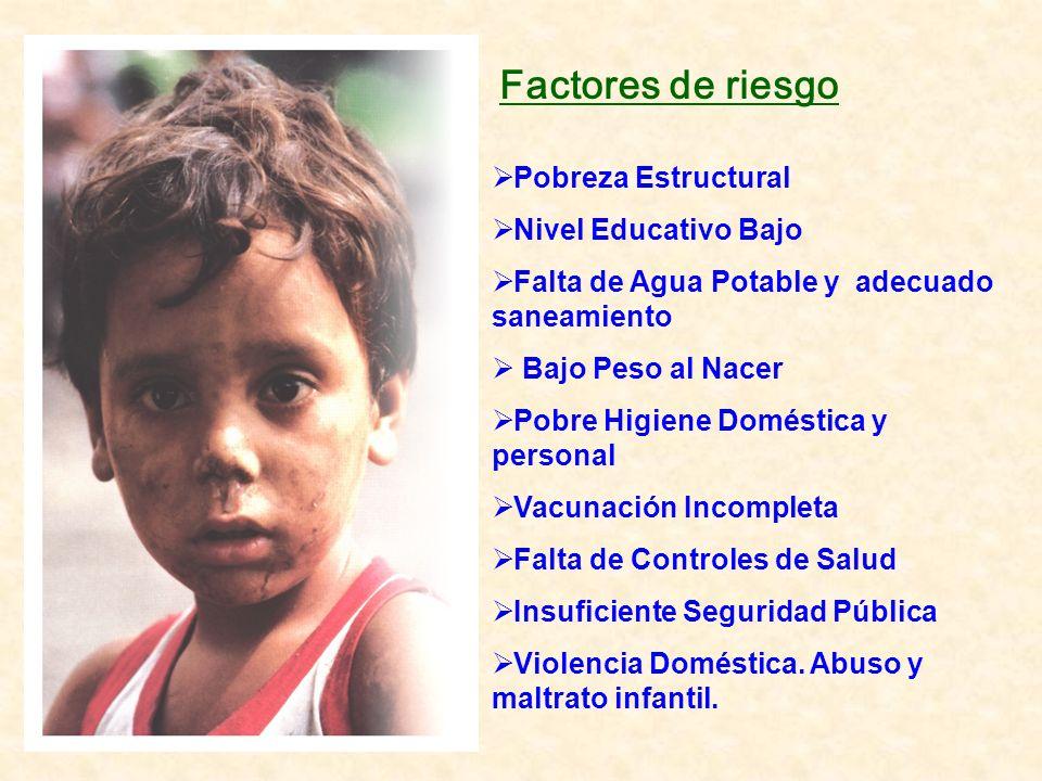 Factores de riesgo Pobreza Estructural Nivel Educativo Bajo