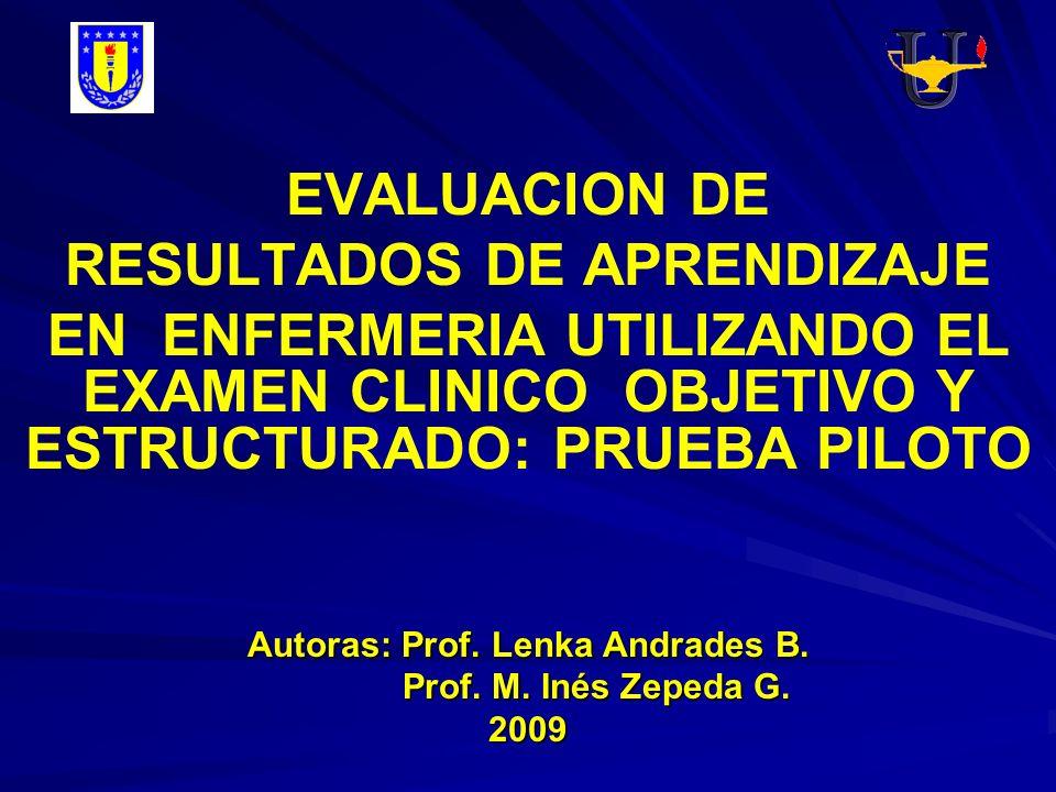 RESULTADOS DE APRENDIZAJE Autoras: Prof. Lenka Andrades B.