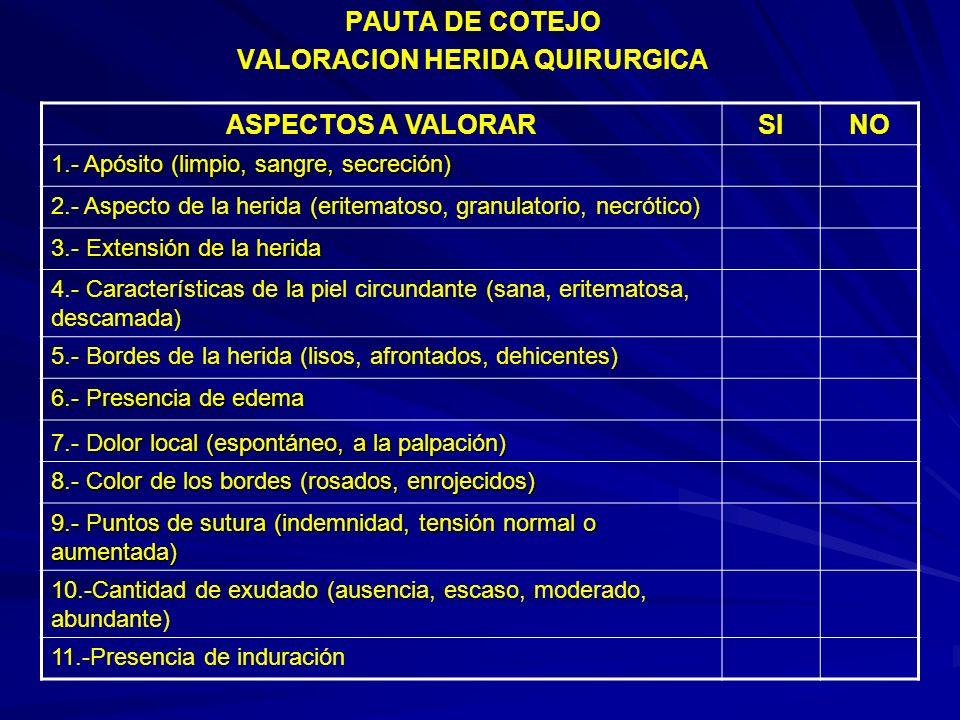 VALORACION HERIDA QUIRURGICA