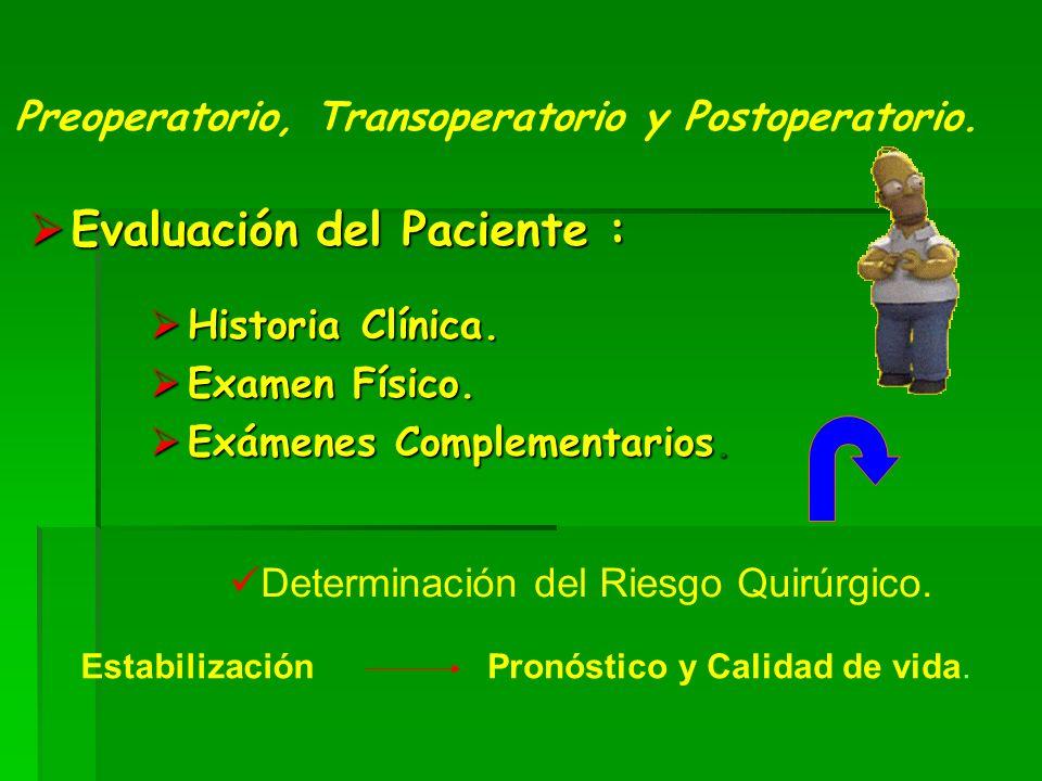 Evaluación del Paciente :