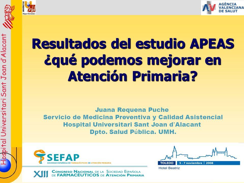 Resultados del estudio APEAS ¿qué podemos mejorar en Atención Primaria