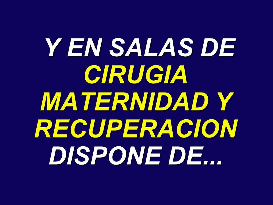 Y EN SALAS DE CIRUGIA MATERNIDAD Y RECUPERACION DISPONE DE...